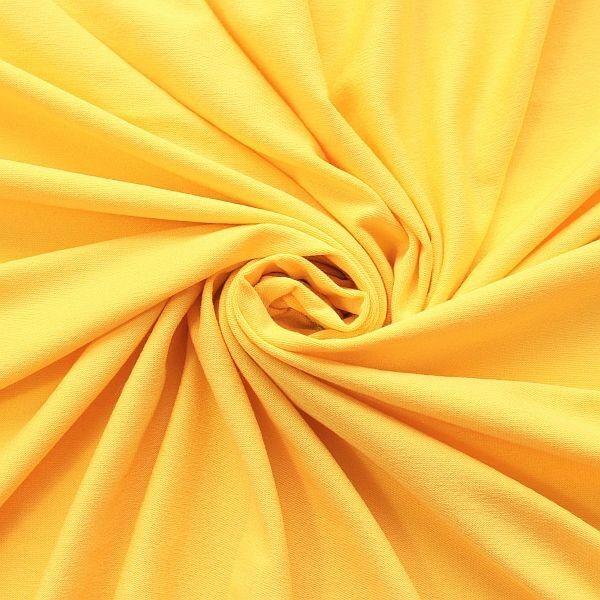 Viskose Stretch Jersey Basic Gelb