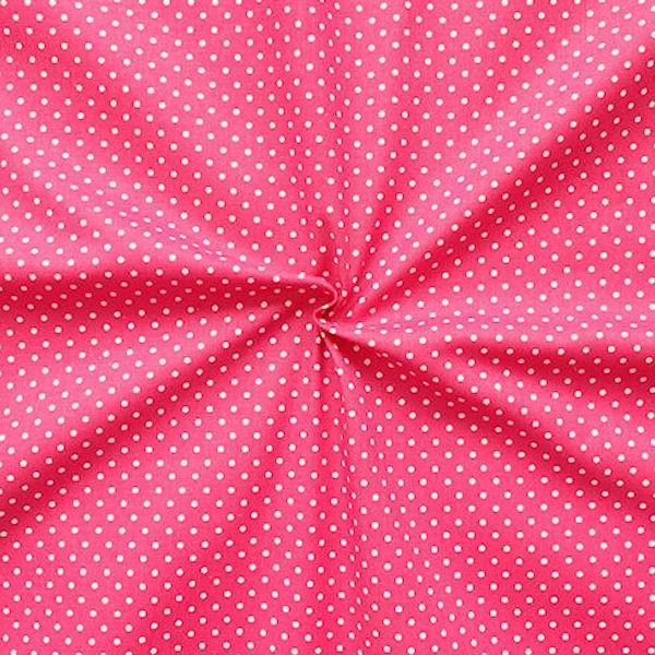 Baumwollstoff Tupfen Klein Pink