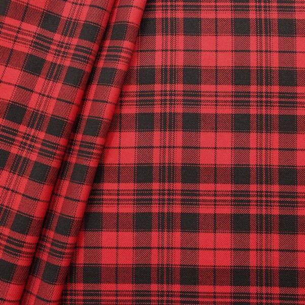 Modestoff Dekostoff Schottenkaro Classic Rot-Schwarz
