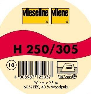 Vlieseline Bügeleinlage Standard stabile Fixiereinlage Typ H 250 Farbe Weiss