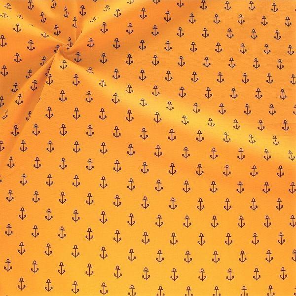Baumwolle Popeline Anker Mittel Ocker-Gelb