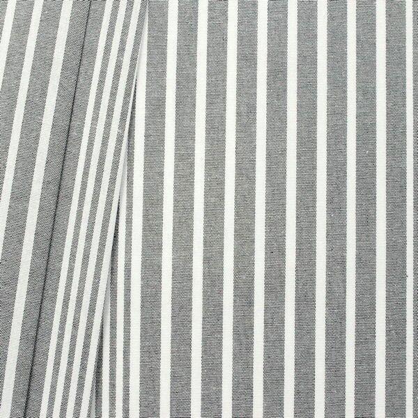 Dekostoff Längsstreifen Grau Weiss