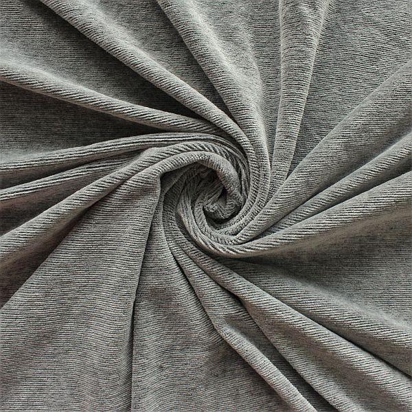 Feincord Jersey Dunkel-Grau meliert