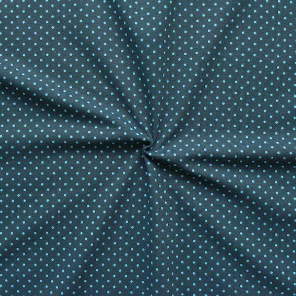 Baumwoll Stretch Jersey Punkte klein Dunkelblau Hellblau