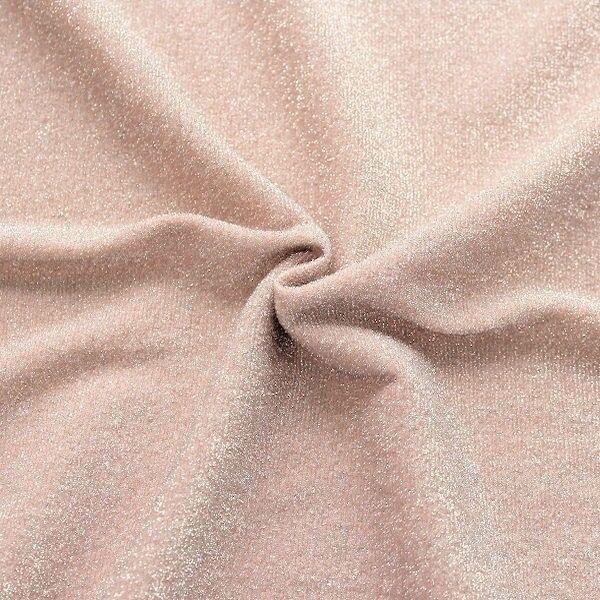 "Lurex Jersey ""Glitter"" Farbe Rosé"