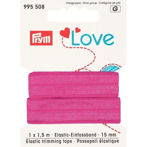 Prym Love 1,5m Elastic-Einfassband 15mm breit pink
