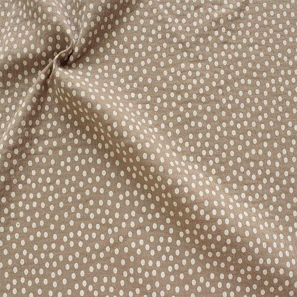 Baumwolle Musselin Punkte Klein Grau-Beige