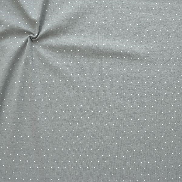 Baumwoll Stretch Jersey Mini Dots Grau