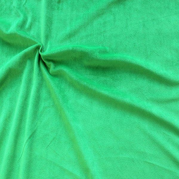 Microfaser Samt Stoff Velvet Touch Gras-Grün