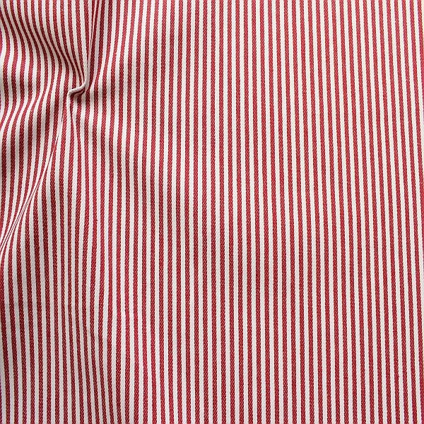 Baumwolle Denim Jeans Stoff Streifen Schmal Rot-Weiss