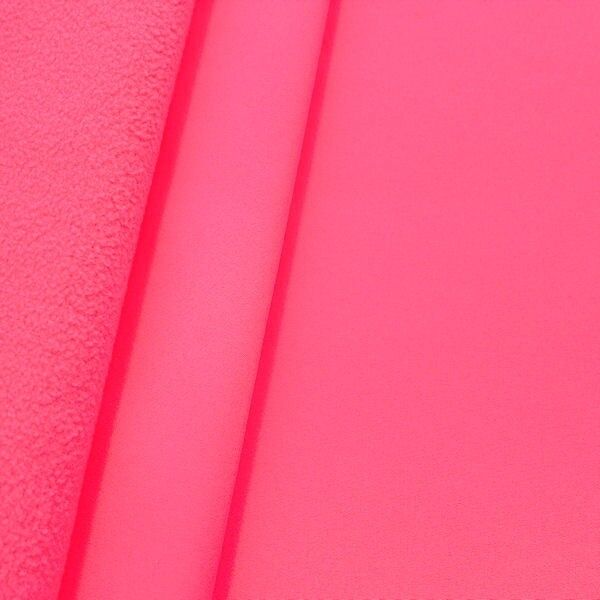 Softshell Fleece Stoff Farbe Neon-Pink