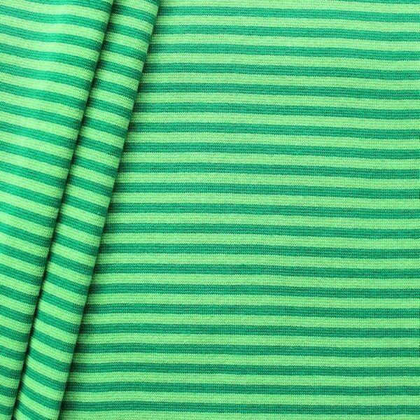 """Baumwoll Bündchenstoff """"Ringel glatt 2"""" Farbe Grün"""