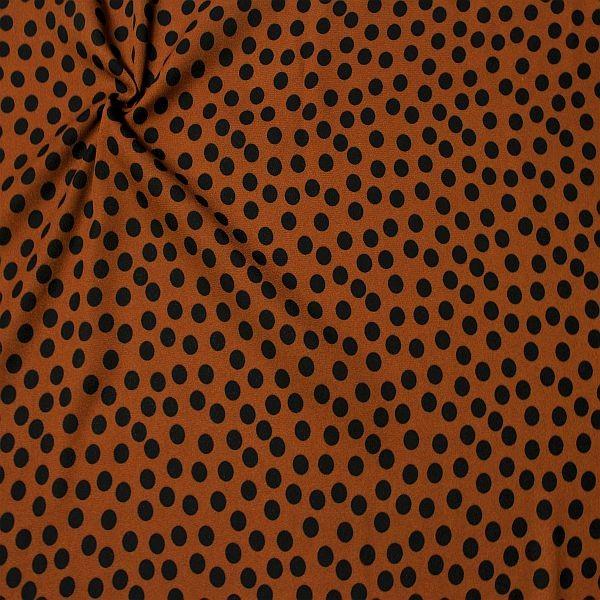 Polyester Crêpe Georgette Tupfen Mittel Rost -Braun