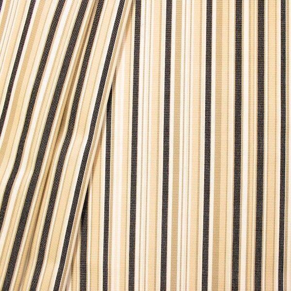 Indoor Outdoorstoff Streifen Mix Beige-Schwarz