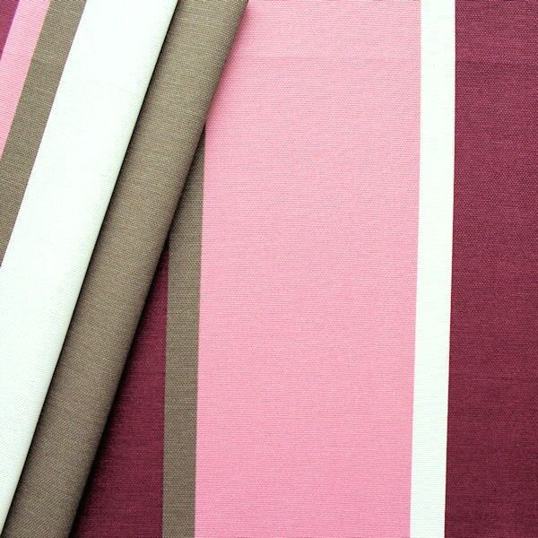 "Dekostoff ""Blockstreifen"" Farbe Khaki-Violett"