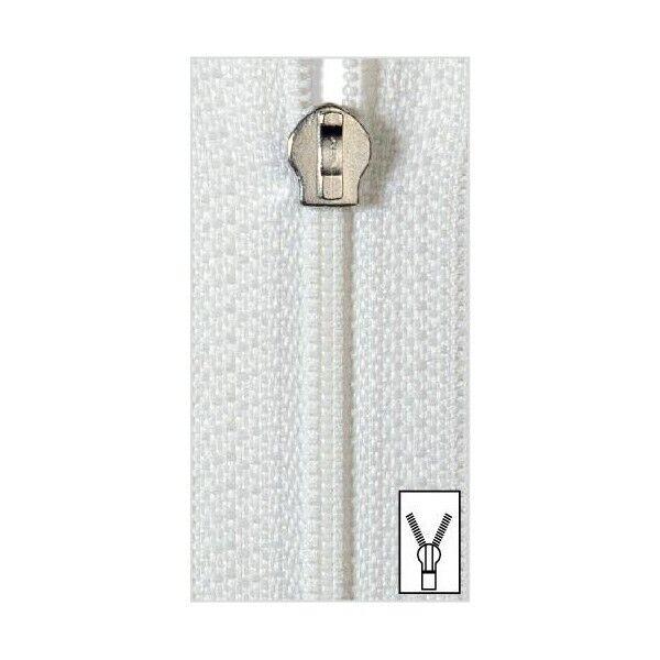 Reißverschluss S10 SB Bettwäsche 80cm weiß