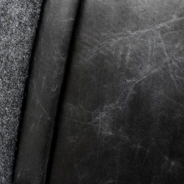 "Polster- Möbelstoff Leder Imitat Artikel Alpinist ""Vintage Look"" Farbe Schwarz"