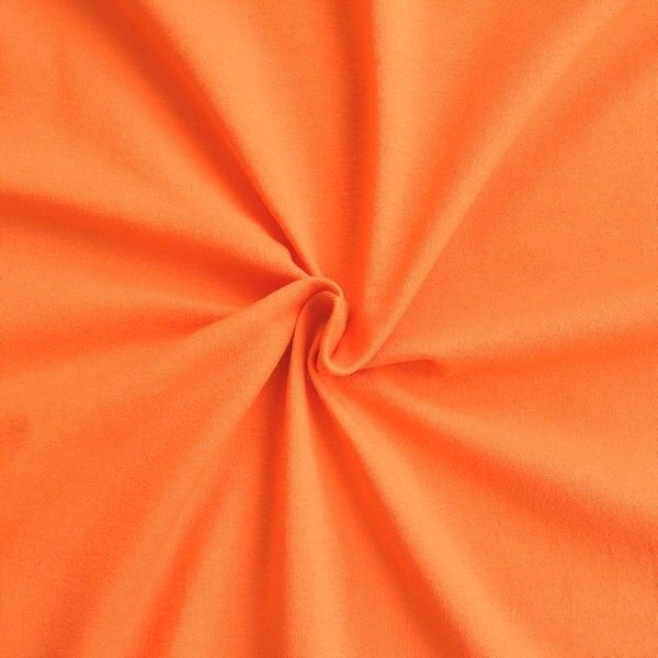 "Baumwoll Stretch Jersey ""Basic 2"" Farbe Orange"