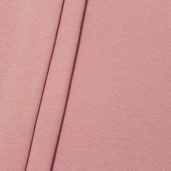"Baumwoll Bündchenstoff ""glatt"" Farbe Alt-Rosé"