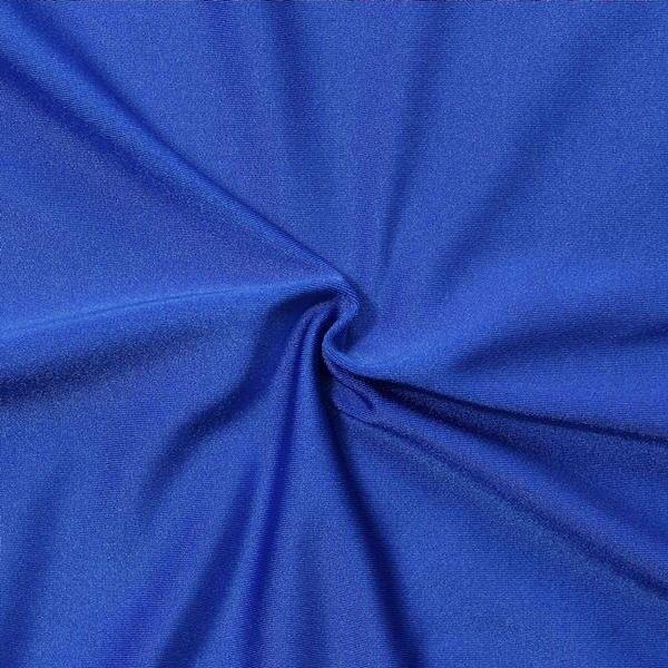 Bi-Stretch Jersey Badeanzug Stoff Farbe Royal-Blau