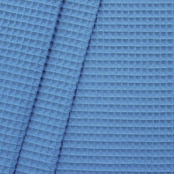 100% Baumwolle Waffel Piqué Blau