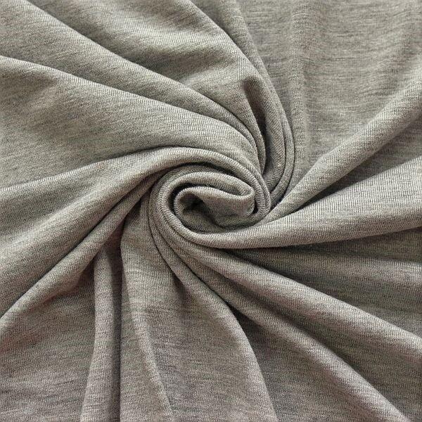 Viskose Stretch Jersey Basic Mittel-Grau meliert
