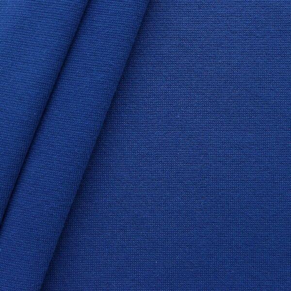 """Baumwoll Bündchenstoff """"glatt"""" Farbe Royal-Blau"""