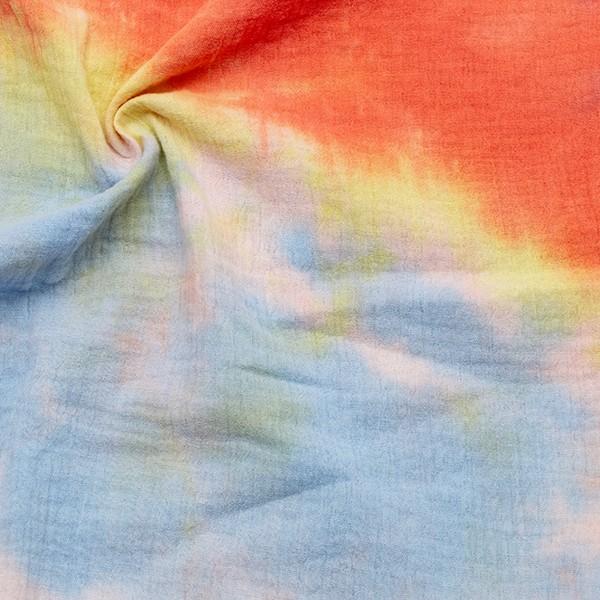 100% Baumwolle Musselin Double Gauze Batik Look Multicolor 1