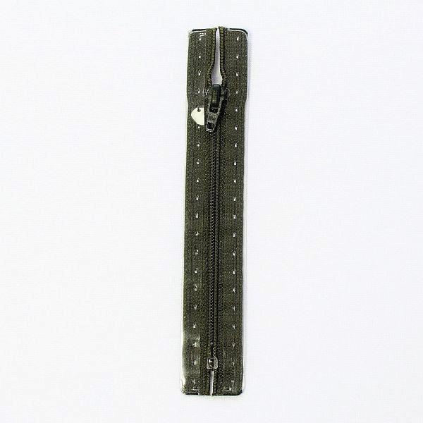 Reißverschluss S1 Typ 12 cm Braun-Oliv