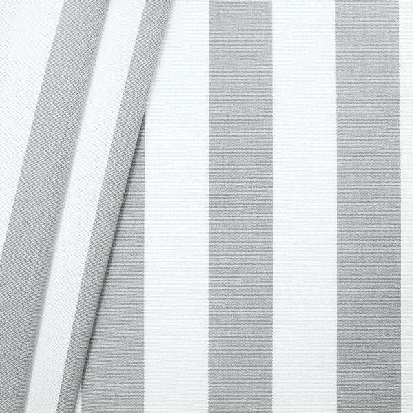 Markisenstoff Outdoorstoff Streifen Hell-Grau Weiss