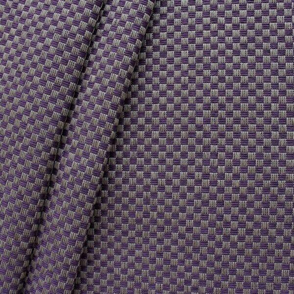 "Polster-/ Möbelstoff Artikel Montgomery ""Flechtoptik klein"" Farbe Lila-Taupe"