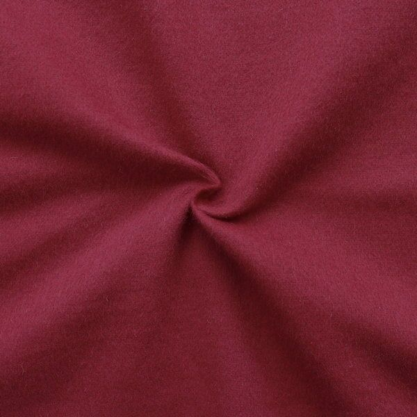 100% Baumwolle Molton universal Breite 145cm Farbe Bordeaux