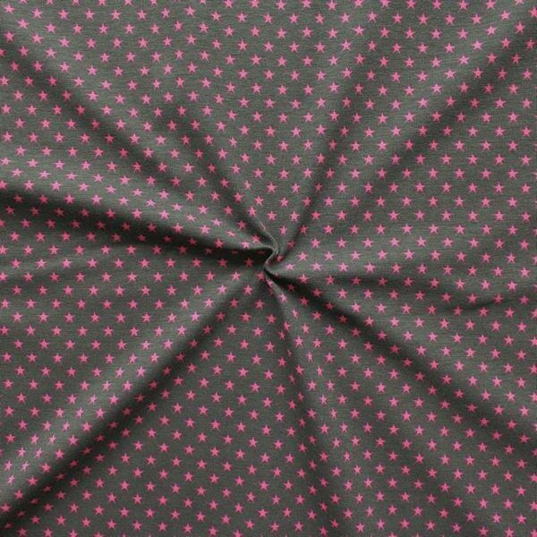 Baumwoll Stretch Jersey Sterne klein Braun Pink