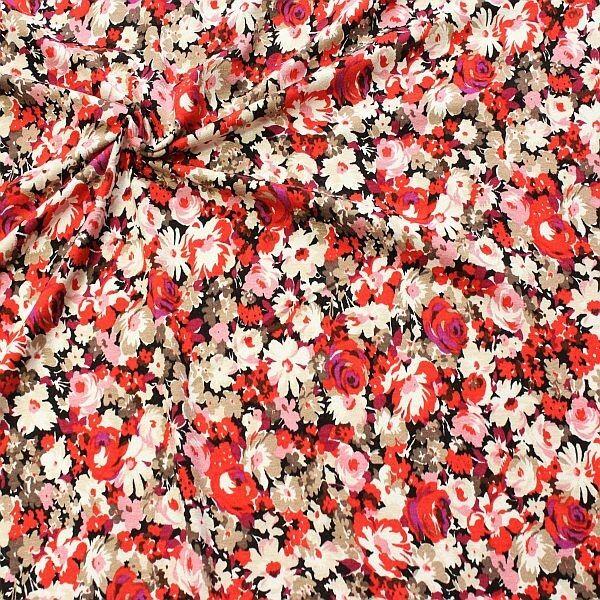 Viskose Stretch Jersey Fashion Blossom Mix Multicolor