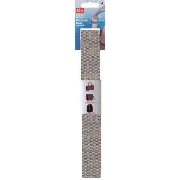 Prym 3m Gurtband für Taschen, 30mm, Hell-Grau