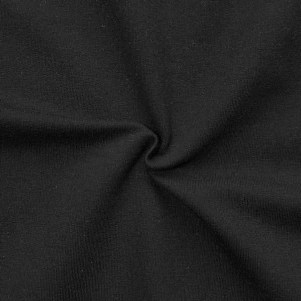 """Sweatshirt Baumwollstoff French Terry """"Fashion Basic 2"""" Farbe Schwarz"""