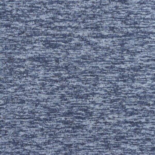 Strick Fleece Melange Hell-Blau