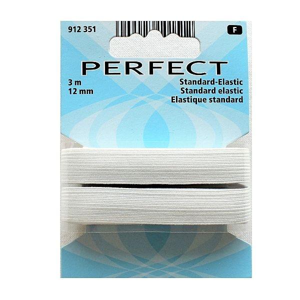 Perfect Standard-Elastic 12mm breit weiß