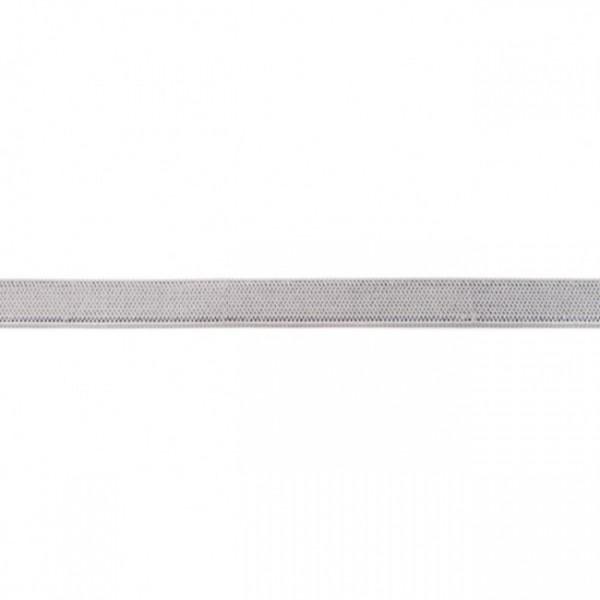 2m Elastikband Breite 10mm Farbe Hell-Grau