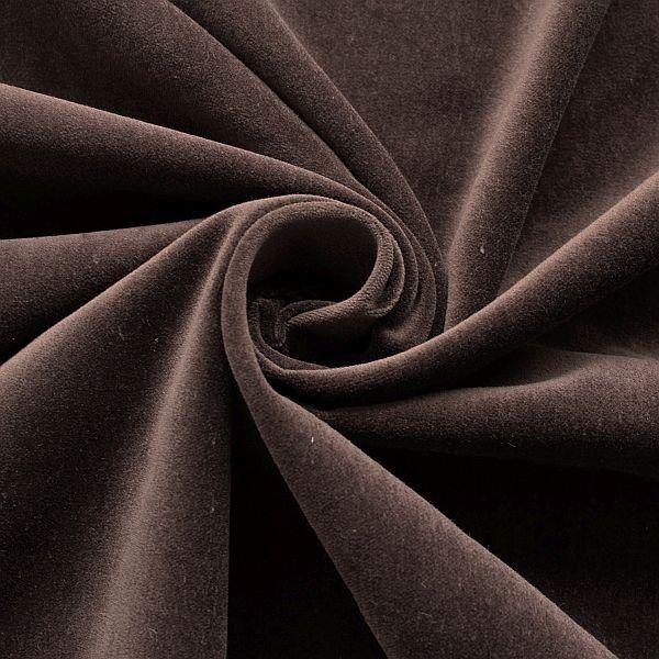 100% Baumwolle Samt Artikel Karl Farbe Schoko-Braun