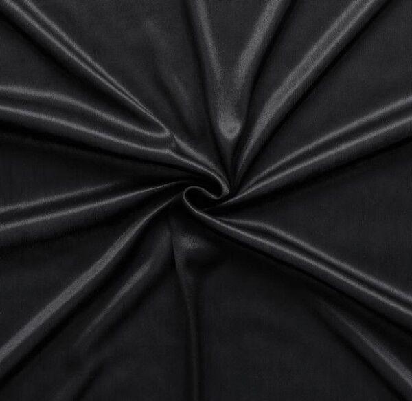 Charmeuse Bekleidungs-/ Futterstoff Farbe Schwarz