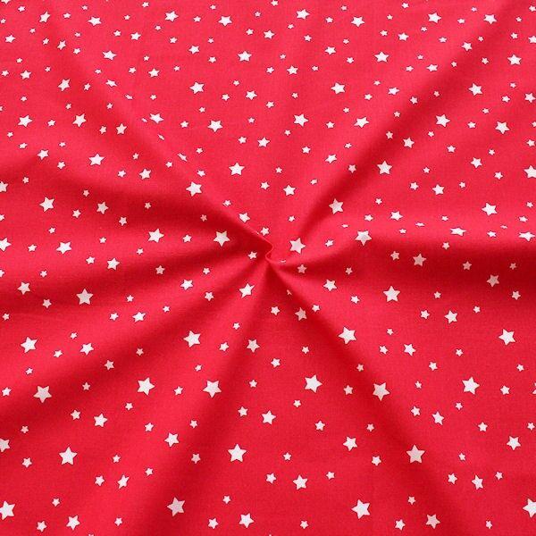 Baumwollstoff Sterne Mix Rot