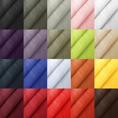 Musterkarte DIN A4 - 100% Leinen Stoff Artikel Barcelona / Girona