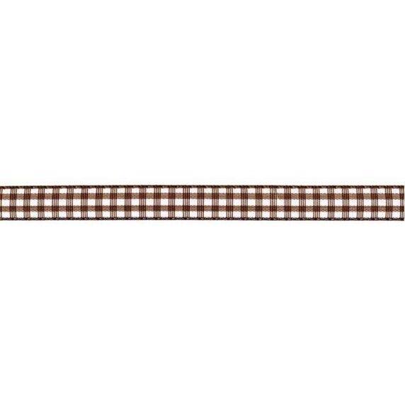 Prym Dekoband kariert 10mm x 4m (Breite / Länge) braun / weiss