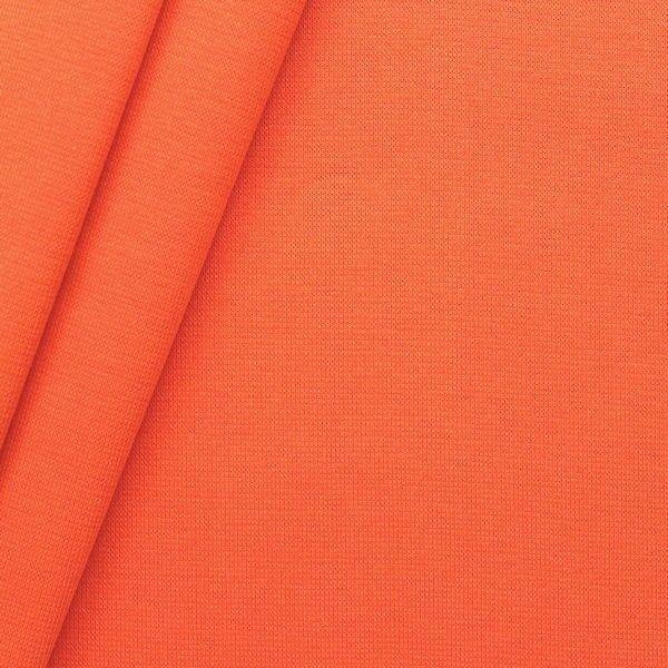 "Baumwoll Bündchenstoff ""glatt"" Farbe Orange"