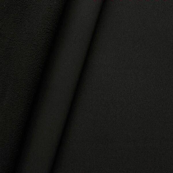 Softshell Fleece Stoff Farbe Schwarz