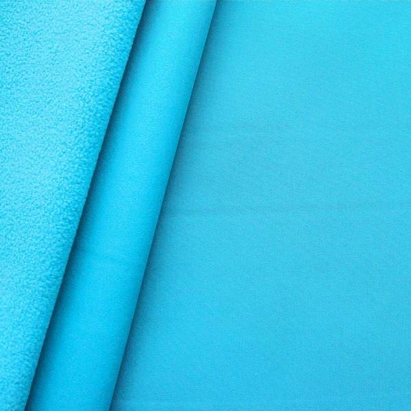Softshell Fleece Stoff Farbe Himmel-Blau