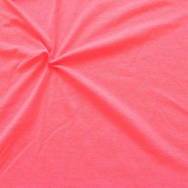 Stretch Jersey Neon Melange Pink