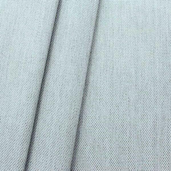 1,40 Meter Indoor- / Outdoorstoff Panama Bindung Farbe Hell-Grau meliert