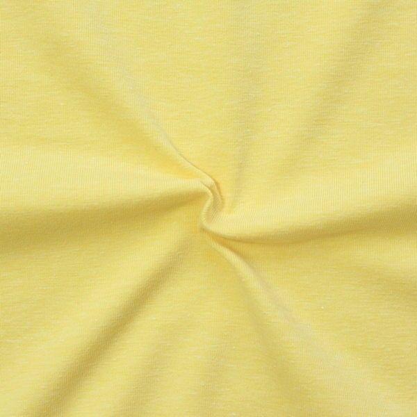 """Baumwoll Stretch Jersey """"Fashion Basic"""" Farbe Gelb melange"""
